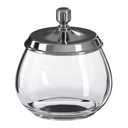 S Fager/E Strandmark - MOGDEN Jar with lid - Jar with lid, glass, stainless steel