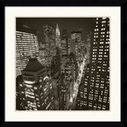 "Amanti Art - ""East 40th Street, NY 2006"" Framed Print by Michael Kenna - Are you in a New York state of mind? Then bring a slice of its brilliant skyline to your decor. This powerful black-and-white cityscape by photographer Michael Kenna adds impact to your favorite setting."