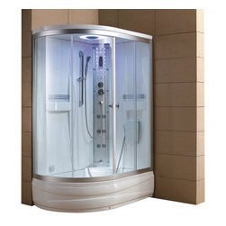 Eagle Bath - Eagle Bath 51 Inch Steam Shower Enclosure Unit - Right - Unit must be hardwired to a dedicated 110v line with GFCI breaker. Electric Voltage - 110v, 60HZ. Electric Current - 30A for Steam Generator. Steam Generator - 3KW. Hot & cold valve pipe size - 1/2 Inch. Overheat protection (the steam generator will be shut down automatically if the temperature of the box gets too hot). No water protection (if there is no water in the steam generator, it will shut down immediately). Flexible drain hose - Approximately 3ft long (If you are using the flexible drain hose, you should have your waste hole 1.6 ft away from the drain hole at the bottom of your acrylic base).