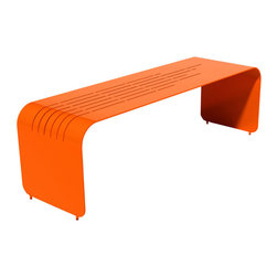 Orange22 Modern - Orange22 Modern Lines Bench by Massimo & Lella Vignelli - The Lines Series captures classic design at its best, line upon line, with an energetic splash of color.