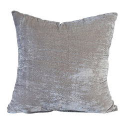 Couture Dreams - Couture Dreams Luscious Decorative Pillow Platinum - Couture Dreams Luscious Platinum Decorative Pillow is the perfect staple to decorating a room.
