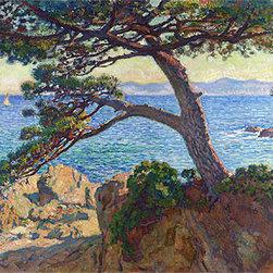 Le Pin de la Fossette | Rysselberghe | Painting Reproduction - Theo van Rysselberghe - Le Pin de la Fossette, 1919 - Hand-Painted Oil Painting Reproduction.