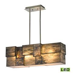 Elk Lighting - Elk Lighting 72073-4-LED Cubist 4 Light LED Linear Pendant - Features: