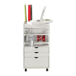 Stanton Wrapping Cart - One thing that always needs organizing is gift-wrapping supplies (especially after the holidays, ahem). This nifty little cart makes room for all your supplies, and better yet, it can be wheeled to your wrapping location of choice.