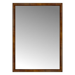 """Posters 2 Prints, LLC - 40"""" x 55"""" Belmont Light Brown Custom Framed Mirror - 40"""" x 55"""" Custom Framed Mirror made by Posters 2 Prints. Standard glass with unrivaled selection of crafted mirror frames.  Protected with category II safety backing to keep glass fragments together should the mirror be accidentally broken.  Safe arrival guaranteed.  Made in the United States of America"""