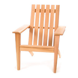 All Things Cedar - CEDAR Adirondack Easybac Chair - Traditional Adirondack styling with an extra measure of class makes this Adirondack more than just your average piece of yard furniture. : DIMENSIONS : 32w x 38d x 40h ---SEAT : 21w x 20d x 16h (unassembled kit)