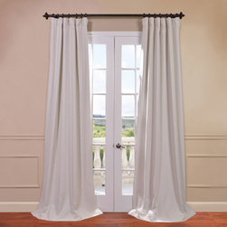 Half Price Drapes - Bellino Cottage White 50 x 96-Inch Blackout Curtain - - You will instantly fall in love with our blackout curtains & drapes. The fabric is super soft with a refined texture made with a special polyester yarn. These curtains keep the light out and provides optimal thermal insulation  - Single Panel  - Weighted  - Pole Pocket  - Cleaning/Care: Dry Clean Half Price Drapes - BOCH-PL4201-96