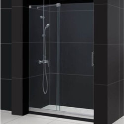 """Bath Authority DreamLine - Bath Authority DreamLine Mirage Frameless Sliding Shower Door and SlimLine Singl - This kit pairs a MIRAGE sliding shower door and coordinating SlimLine shower base to completely transform a shower space. The MIRAGE uses innovative hardware to provide the space-saving benefits of a sliding door without compromising the beauty of a completely frameless glass design. A coordinating SlimLine shower base completes the picture with a sleek low profile design. DreamLine(TM) shower kits deliver an efficient yet elegant solution with the look of custom glass at an exceptional value. Features Items included: Mirage Shower Door and 36"""" x 48"""" Single Threshold Shower BaseOverall kit dimensions: 36""""D x 48""""W x 74-3/4""""H Mirage Shower Door: 44-48"""" W x 72"""" H Premium 3/8"""" (10 mm) thick clear tempered glass Chrome or Brushed Nickel finish hardware Frameless glass design Width installation adjustability: 44-48"""" Out-of-plumb installation adjustability: No Unique fully frameless sliding shower door design One sliding panel with one stationary panel Aluminum bottom guide rail may be shortened by cutting up to 4"""" Door opening: 16 - 20"""" Stationary panel: 23-1/2"""" Reversible for """"right"""" or """"left"""" door opening installation Material: Tempered Glass, Aluminum, Brass Tempered glass ANSI certified 36"""" x 48"""" Single Threshold Shower Base: High quality scratch and stain resistant acrylic Slip-resistant textured floor for safe showering Integrated tile flange for easy installation and waterproofing Fiberglass reinforcement for durability cUPC certified Drain not included Product Warranty: Shower Door: Limited 5 (five) manufacturer warranty Shower Base: Limited lifetime manufacturer warranty Installation Guide for Shower Door Technical Drawing for Shower Door Review the technical drawing for Shower Base Center Drain Information regarding the return policy of your DreamLine(TM) product is available here. If you have any questions, please contact us before ordering."""
