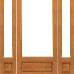 "Prehung 1-lite-P/B Patio Brazilian Mahogany Wood 1 Panel IG Glass Sidelights Doo - SKU#1-lite-P/B-Ext-1-2BrandAAWDoor TypeFrenchManufacturer CollectionMahogany French DoorsDoor ModelDoor MaterialWoodWoodgrainMahoganyVeneerPrice1954Door Size Options[24""+2(14"") x 96""] (4'-4"" x 8'-0"")  $0[24""+2(18"") x 96""] (5'-0"" x 8'-0"")  $0[30""+2(14"") x 96""] (4'-10"" x 8'-0"")  $0[30""+2(18"") x 96""] (5'-6"" x 8'-0"")  $0[32""+2(14"") x 96""] (5'-0"" x 8'-0"")  $0[32""+2(18"") x 96""] (5'-8"" x 8'-0"")  $0[36""+2(14"") x 96""] (5'-4"" x 8'-0"")  $0[36""+2(18"") x 96""] (6'-0"" x 8'-0"")  $0Core TypeSolidDoor StyleDoor Lite Style3/4 Lite , 1 LiteDoor Panel Style1 Panel , Ovolo StickingHome Style MatchingCraftsman , Colonial , Cape Cod , VictorianDoor ConstructionEngineered Stiles and RailsPrehanging OptionsPrehungPrehung ConfigurationDoor with Two SidelitesDoor Thickness (Inches)1.75Glass Thickness (Inches)1/2Glass TypeDouble GlazedGlass CamingGlass FeaturesInsulated , Tempered , low-E , Beveled , DualGlass StyleClear , White LaminatedGlass TextureClear , White LaminatedGlass ObscurityNo Obscurity , High ObscurityDoor FeaturesDoor ApprovalsFSCDoor FinishesDoor AccessoriesWeight (lbs)850Crating Size25"" (w)x 108"" (l)x 52"" (h)Lead TimeSlab Doors: 7 daysPrehung:14 daysPrefinished, PreHung:21 daysWarranty1 Year Limited Manufacturer WarrantyHere you can download warranty PDF document."