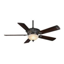 Casablanca Fan Company - Alessandria Ceiling Fan by Casablanca Fan Company - The Casablanca Alessandria Ceiling Fan creates refreshing air circulation and features an elegant, warm design.The Alessandria Ceiling Fan features Amber Scavo glass shade, five Antique carved featherwood blades, and lifetime motor warranty.