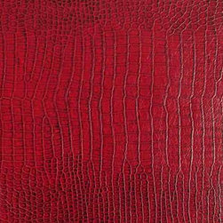 Crocodile Lizard Snakeskin Upholstery Fabric - Waterproof, 3 Colors, Cranberry - The waterproof upholstery grade urethane fabric features a very soft feel while retaining durability. It is offered here in 3 colors and is great for any seating project. This is a fantastic high-quality waterproof fabric with a great look. Details below ...