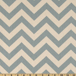 Table Runner Zigzag Village Blue by Fantasy Vintage Design - This table runner would be just beautiful for a dinner party. I love the soft sky blue and the bold pattern.