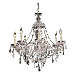 Elegant Lighting - Elegant Lighting 7829D26C Alexandria 7-Light, Single-Tier Crystal Chandelier, Fi - Elegant Lighting 7829D26C Alexandria 7-Light, Single-Tier Crystal Chandelier, Finished in Chrome with Clear CrystalsElegant Lighting 7829D26C Features: