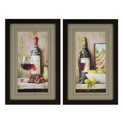 Paragon Art - Paragon Vintage Wine ,Set of 2 - Artwork - Vintage Wine ,Set of 2         ,  Paragon Artist is Pilat , Paragon has some of the finest designers in the home accessory industry. From industry veterans with an intimate knowledge of design, to new talent with an eye for the cutting edge, Paragon is poised to elevate wall decor to a new level of style.