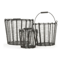 Factory Wire Baskets-set of 3