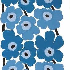 Marimekko Unikko Blue Fabric - Marimekko Cotton Fabrics