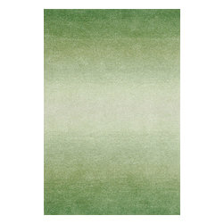 """Trans-Ocean - Horizon Grass Rugs 9663/16 - 24""""X36"""" - The use of subtle shading and contemporary color create a casual yet elegant rug.Thick 100% Indian Wool is Hand Tufted by Artisans to create these rich Indoor rugs.The smooth cut pile wool is soft underfoot and creates a simple base in order to let the design shine through."""