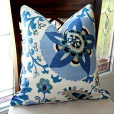 Braemore Silsila Indian Sea Suzani Designer by trendypillows