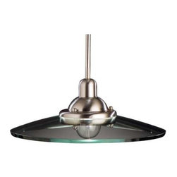 Mini-Pendant with Glass Saucer Shade -