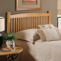 Hillsdale Oak Tree Headboard - Contemporary flair meets timeless tradition in the Hillsdale Oak Tree Headboard. Blending current styling with classic hardwood construction this headboard has a versatile design that looks great in nearly any room. The slat spindles and 3.25-inch octagonal legs add modern appeal while the oak finish creates classic inviting warmth. Just choose your size. Headboard Dimensions: Twin: 39W x 3D x 42H inches Full: 60W x 3D x 42H inches About Hillsdale FurnitureLocated in Louisville KY Hillsdale Furniture is a leader in top quality affordable bedroom furniture. Since 1994 Hillsdale has combined the talents of nationally recognized designers and globally accredited factories to bring you furniture styling and design from around the globe. Hillsdale combines the best in finishes materials and designs to bring both beauty and value with every piece. The combination of top quality metal wood stone and leather has given Hillsdale the reputation for leading-edge styling and concepts.