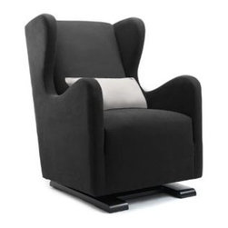 Monte Vola Glider in Bonded Leather, Black - Every nursery needs a rocking chair, and this one just happens to be a super amazing glider. I'm drooling over it. As a plus, it's leather, which is nice and easy to wipe off in case of spit-up incidents. Win.