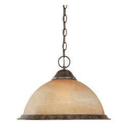 Designers Fountain Lighting - Bistro - Interior Pendant in Warm Mahogany with Te -