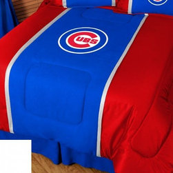 Sports Coverage - MLB Chicago Cubs Bedding - MVP Micro Suede Comforter - Full - The MLB Chicago Cubs MVP Micro Suede Collection is unique in its appeal to both young and more mature tastes. Show your Baseball team spirit with this great looking officially licensed MVP Micro Suede comforter. Sporting team colors with sporty double porthole jersey edging, This generous-sized comforter is made of faux suede coupled with jersey mesh on the sides and sporty double porthole jersey edging that stays colorfast, soft, and wrinkle-free. The comforter also has the team's same color on the other side! It is filled with 100% bonded polyester batting. Machine washable in cold water. Tumble dry in low heat.