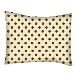 SheetWorld - SheetWorld Crib / Toddler Percale Baby Pillow Case -Brown Polka Dots Cream Woven - Baby or Toddler pillow case. Made of an all cotton percale fabric. Opening is in the back center and is envelope style for a secure closure.