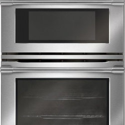 "Electrolux Icon - Professional E30MC75JPS 30"" Double Combination Electric Wall Oven with 4.2 Cu. F - The Electrolux Microwave Combination Oven features Wave-Touch Controls that illuminates this sleek control panel with just one touch It gives you more control over your cooking and fades away to uncluttered display after an option is selected CustomC..."