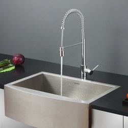 Ruvati - Ruvati RVC2451 Stainless Steel Kitchen Sink and Chrome Faucet Set - Ruvati sink and faucet combos are designed with you in mind. We have packaged one of our premium 16 gauge stainless steel sinks with one of our luxury faucets to give you the perfect combination of form and function.