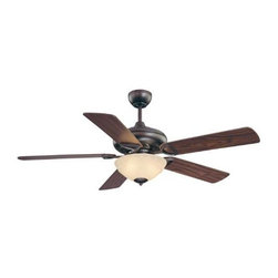 "Savoy House - Savoy House 52-851-5RV-13 Logan 52"" Ceiling Fan in English Bronze - blades Inclu - Ceiling Fan 52"" Blade Span Cream MarbleBlade Finish: Walnut Beechwood Blades Included: Yes Bulb Included: Yes Bulb Type: Candelabra Collection: Logan Finish: English Bronze Height: 18-1 2 Max Wattage: 60 Socket 1 Base: Candelabra Socket 1 Max Wattage: 60 Width: 52"
