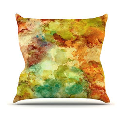 """Kess InHouse - Rosie Brown """"Fall Bouqet"""" Yellow Orange Throw Pillow (20"""" x 20"""") - Rest among the art you love. Transform your hang out room into a hip gallery, that's also comfortable. With this pillow you can create an environment that reflects your unique style. It's amazing what a throw pillow can do to complete a room. (Kess InHouse is not responsible for pillow fighting that may occur as the result of creative stimulation)."""