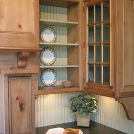 Amish Furniture: Kitchen Island Cabinetry, Microwave