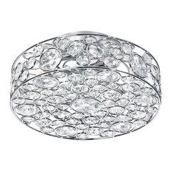 Dainolite - Dainolite 4LT Crystal Semi Flush Fixture - 4 Light Semi Flush Crystal Fixture, Polished Chrome