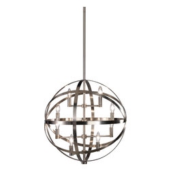 Robert Abbey - Lucy Pendant - Light up your dining room with a modern take on the traditional chandelier. The nickel-finished pendant hangs like a glowing sphere of contemporary design. Set your table for a fabulous meal and invite your friends over for an evening under the glittering lights.