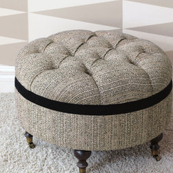 Eastern Accents - Abernathy Round Ottoman - Bring something fresh to your décor with Abernathy, our modern take on Old Hollywood style.