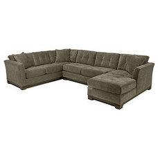 "Elliot Fabric Microfiber Sectional Sofa, 3 Piece Chaise 138""W x 95""D x 28""H - fu"