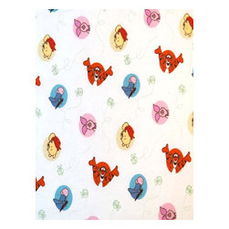 """SheetWorld - SheetWorld Crib Sheet Set, Winnie The Pooh & Friends - This 100% cotton flannel"""" crib / toddler sheet is made of the highest quality fabric that's double napped. That means these sheets are the softest and most durable. Sheets are made with deep pockets and are elasticized around the entire edge which prevents it from slipping off the mattress- thereby keeping your baby safe. These sheets are so durable that they will last all through your baby's growing years. We're called sheetworld because we produce the highest grade sheets on the market today. Features the one and only Winnie The Pooh and friends. Size: 28 x 52. Set includes 1 fitted sheet- 1 flat sheet- and 1 todder size pillow case."""" Made in the USA."""