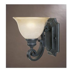 Designers Fountain - Designers Fountain 96101 Single Light Up Lighting Wall Sconce from the Barcelona - Features: