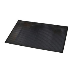 Bamboo Mat Anti Slippery Black - This bamboo mat is made of bamboo slats with a fabric lining. Modern, stylish and comfortable to your feet, this beautiful bath rug brings a note of natural beauty to your bathroom decor. It prevents slips with its PVC non-skid backing. Hand wash and no dryer. Indoor use only and for use outside of the tub only. Width 20-Inch and length 31.5-Inch. Color black. Add a stunning look and a perfect finishing touch to your bathroom decor with this trendy bamboo mat! Complete your decoration with other products of the same collection. Imported.