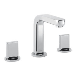 Hansgrohe - Hansgrohe-31063821 Metris S 4-Inch to 8-Inch Adjustable Center Widespread Faucet - Hansgrohe-31063821 Metris S 4-Inch to 8-Inch Adjustable Center Widespread Faucet in Brushed NickelAs one of the leading international manufacturers of plumbing products, Hansgrohe represents innovation, design, quality and showering pleasure at the highest level. Metris S harnesses the pure minimalist style that so often epitomizes contemporary European designs. With the geometrical transition of curve into smooth planes, the design projects a decidedly clean and versatile persona. The full handles with the widespread and bidet products enhance the originality and balance of an already distinctive series. The Metris S series also features a single-hole version and a unique tall faucet for vessel sinks. In the shower, the trim sets continue the minimalist style, and the purist form of Raindance S 150 AIR handshowers and showerheads add sophistication and Hansgrohe's award-winning air-injection technology to the series.Hansgrohe-31063821 Metris S 4-Inch to 8-Inch Adjustable Center Widespread Faucet in Brushed Nickel, Features:• 4-Inch to 8-Inch adjustable centers• 1/2-Inch IPS inlets• 5-3/4-Inch spout height; 5-1/8-Inch spout reach• Includes full handles• Features a 90-degree ceramic cartridge; Includes pop-up assemblyHansgrohe-31063821 Specification Sheet Hansgrohe Installation Instructions Hansgrohe Limited WarrantyManufacturer: HansgroheModel Number: 31063821Manufacturer Part Number: Hansgrohe 31063821Collection: Metris SFinish Code: Finish: Brushed NickelUPC: 011097544700This product is also listed under the following Manufacturer Numbers and Finish Codes:Hansgrohe 31063821        HG31063821        31063821Product Category: Bathroom FaucetsProduct Type: Bathroom Sink Faucet
