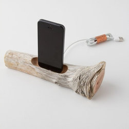 Driftwood iDock 5 - Let your iPod connect with nature with this one-of-a-kind charger. It's the perfect balance between technology and nature.