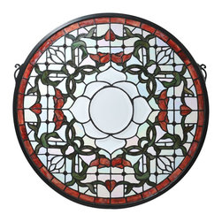 Meyda Tiffany - Meyda Tiffany 99020 Tulip Bevel Medallion Tiffany Window - Meyda Tiffany 99020 Tulip Bevel Medallion Tiffany Window