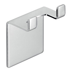 Gedy - Chromed Stainless Steel Adhesive Mounted Hook (for Wiper-Blade S041-13) - Wall mounted hook mounts easily with adhesive.