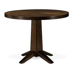 International Concepts - 48-Inch Round Pedestal Table in Wood Veneer - Veneer top. Solid Birchwood Legs and Frame. Made of solid Birchwood/Veneer. Antique Cherry finish. 48 in. W x 48 in. L x 29.5 in. H (73 lbs.)