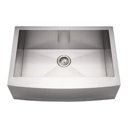 Whitehaus - Whitehaus Whncmap3021 Noah's Single Bowl - commercial single bowl sink with an arched front apron