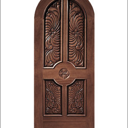 Carved and Mansion Entry Doors Model # 17 - Our Carved and Mansion doors are hand carved by master craftsman.  They will certainly add to the wow factor of any entrance exterior or interior.  The doors are Mahogany and can be stained and finished in a variety of colors to complement your homes beauty.  You may also like our International collection which is inspired by world design.