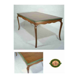 Antique Reproductions - Reproduction French Provincial table in cherry with antiqued edge.