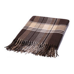Kanata Blanket Co. - Bamboo Dream Throw - Autumn Plaid - Perfect for adding modern design and elegance to every home, the rich earth tones of these bamboo throws complement any home decor, whether a contemporary or a classic design.  And these bamboo throws simply must be felt to fully appreciate their unique silky softness.  Being four times more absorbant than cotton, bamboo throws are breathable, wick moisture and are naturally antimicrobial; a throw that will make you feel cooler in hot weather and warmer in cool weather.  The appeal of bamboo goes beyond its amazing feel and comfort.  These throws are eco-friendly.  Few plants have a smaller environmental footprint than bamboo.  One of the fastest growing plants, bamboo thrives with very little water.  In addition, inherent anti-bacterial properties enable the plant to flourish without pesticides and fertilizers.