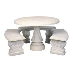 "Athens Round Table Set - Dimensions :29""H x 43""D"